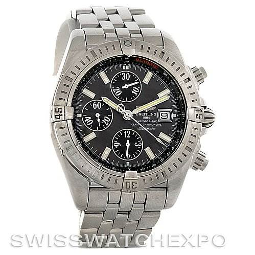 3055 Breitling Chronomat Evolution Steel Men's A1335611/F51 SwissWatchExpo