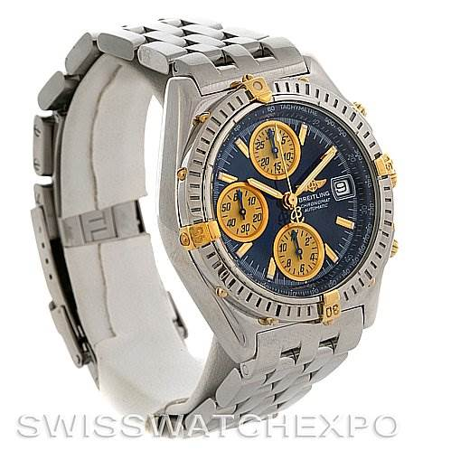 3064 Breitling Chronomat Steel 18K Gold Watch B13050.1 SwissWatchExpo
