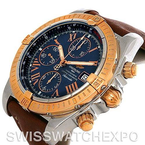 Breitling Chronomat Evolution C13356 Steel and Rose Gold Watch SwissWatchExpo