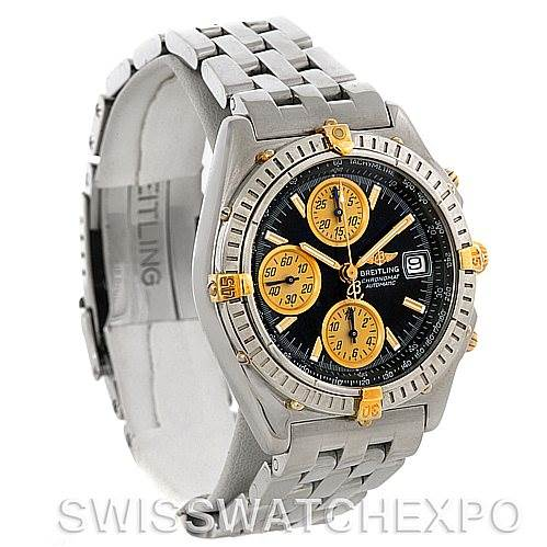 4347 Breitling Chronomat Steel and 18K Yellow Gold Watch B13050 SwissWatchExpo