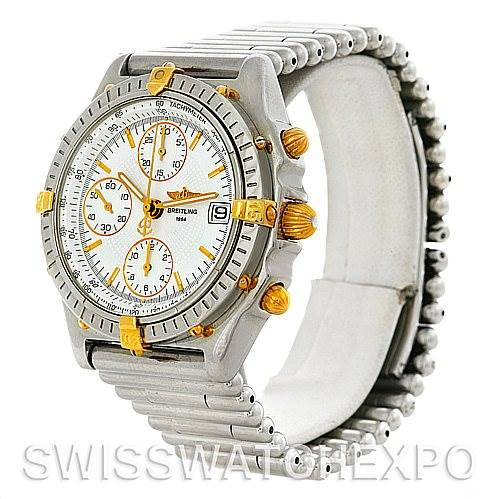 4418 Breitling Chronomat Steel and 18K Yellow Gold Watch B13050 SwissWatchExpo