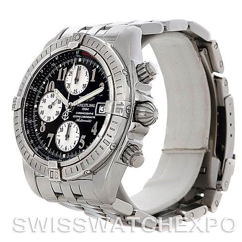 4532 Breitling Chronomat Evolution Steel Men's Watch A13356 SwissWatchExpo