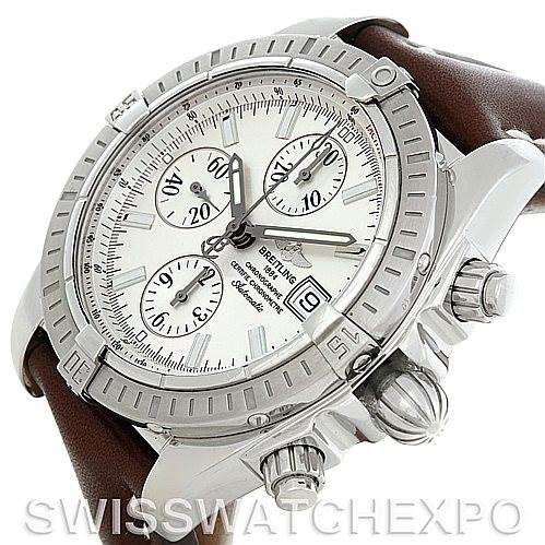 5335 Breitling Chronomat Evolution Steel Men's Watch A13356 SwissWatchExpo