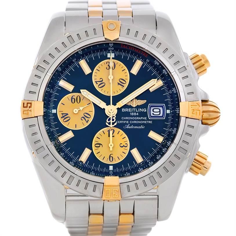 5298 Breitling Chronomat Steel 18K Gold Watch B13356 SwissWatchExpo