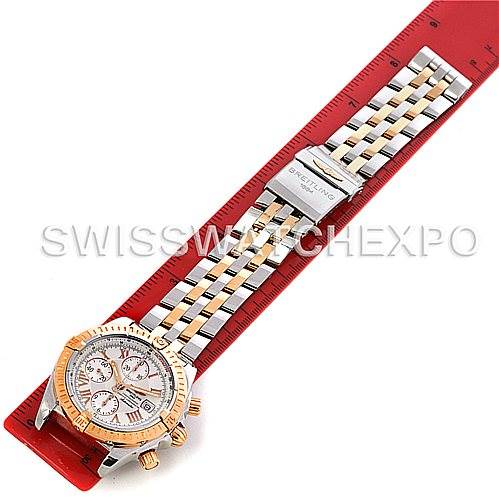 4499 Breitling Chronomat Evolution C13356 Steel 18K Rose Gold Men's Watch SwissWatchExpo