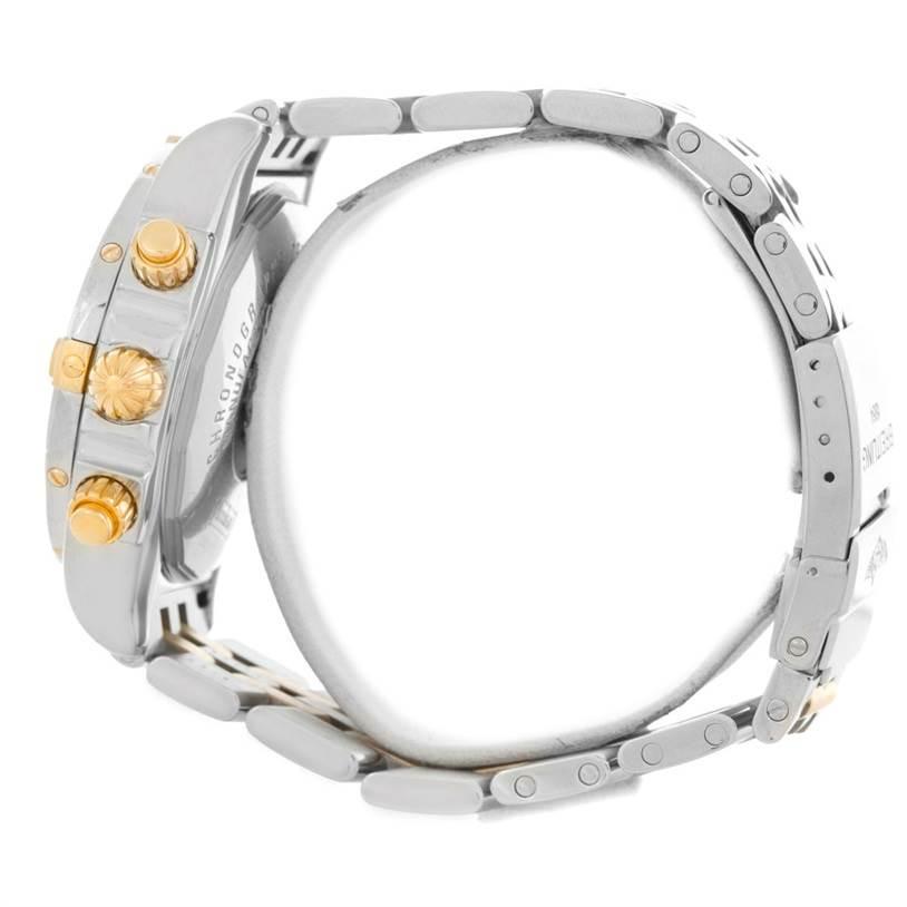 Breitling Chronomat Steel 18K Gold Black Dial Watch B13356 SwissWatchExpo