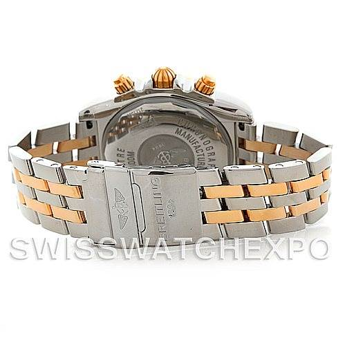 5624 Breitling Chronomat Evolution Steel 18K Rose Gold Mens Watch C13356 SwissWatchExpo