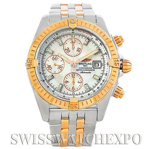 Breitling Chronomat Evolution Steel Rose Gold Watch C1335611/A64 SwissWatchExpo
