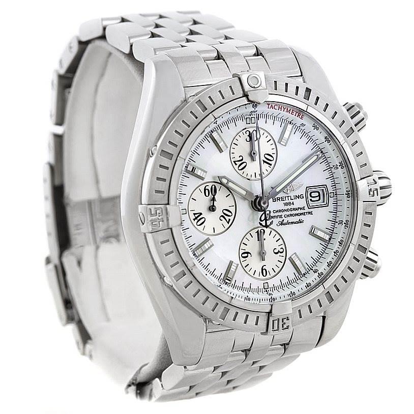 Breitling Chronomat Evolution Steel Mens Watch A13356 SwissWatchExpo
