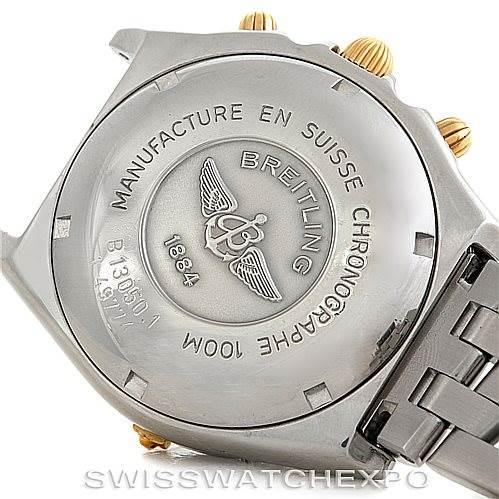 6109 Breitling Chronomat Steel and 18K Yellow Gold Watch B13050 SwissWatchExpo