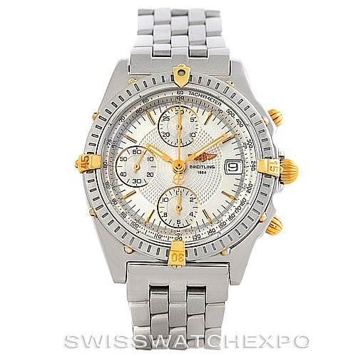 Breitling Chronomat Steel and 18K Yellow Gold Watch B13050 SwissWatchExpo