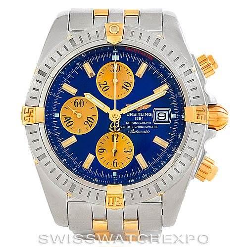 Breitling Chronomat Steel 18K Gold Watch B13356 SwissWatchExpo