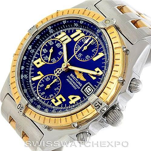 Breitling Windrider Chronomat Steel and 18K Yellow Gold Watch D13050 SwissWatchExpo