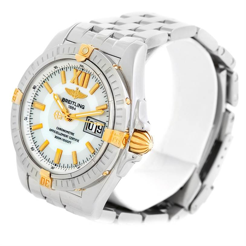 6256 Breitling Windrider Cockpit Mens Steel 18K Yellow Gold Watch B49350 SwissWatchExpo