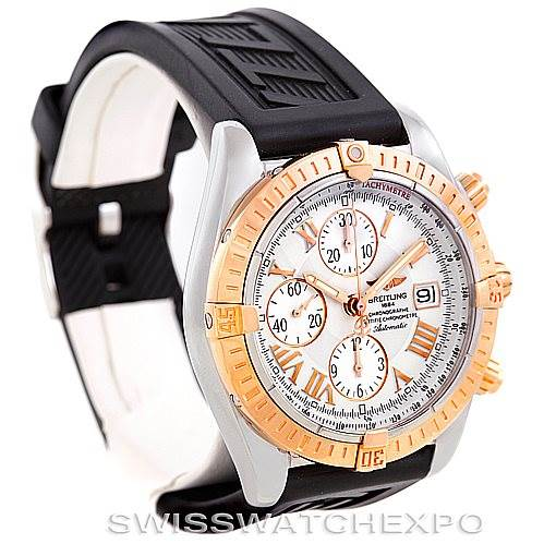 6350 Breitling Chronomat Evolution Steel and Rose Gold Watch C13356 SwissWatchExpo