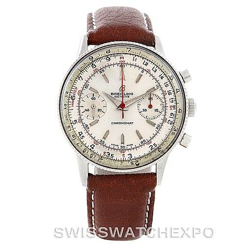 6392 Breitling Vintage Chronomat Steel Watch 217012 808 SwissWatchExpo