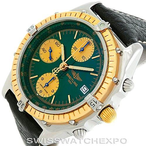 6574 Breitling Chronomat Steel 18K Yellow Gold Watch D13048 SwissWatchExpo