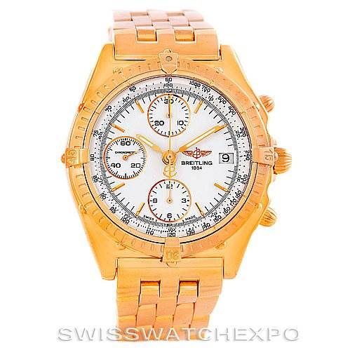 Breitling Chronomat 18K Rose Gold Watch Limited Edition H13047 SwissWatchExpo