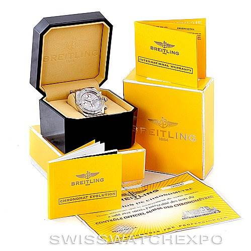 6987 Breitling Chronomat Evolution Limited Edition Mens Watch A13356 SwissWatchExpo