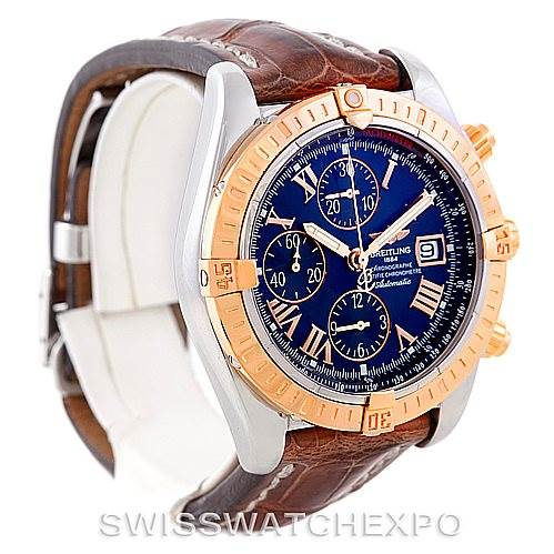 7091 Breitling Chronomat Evolution Steel and Rose Gold Watch C13356 SwissWatchExpo