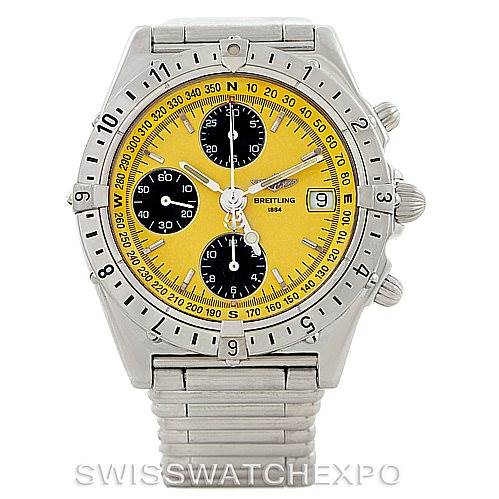 6504 Breitling Chronomat Longitude Steel Men's Watch A20048 SwissWatchExpo
