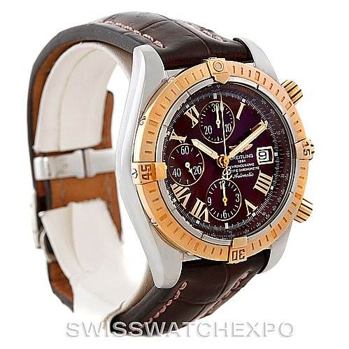 7383 Breitling Chronomat Evolution Steel and Rose Gold Watch C13356 SwissWatchExpo