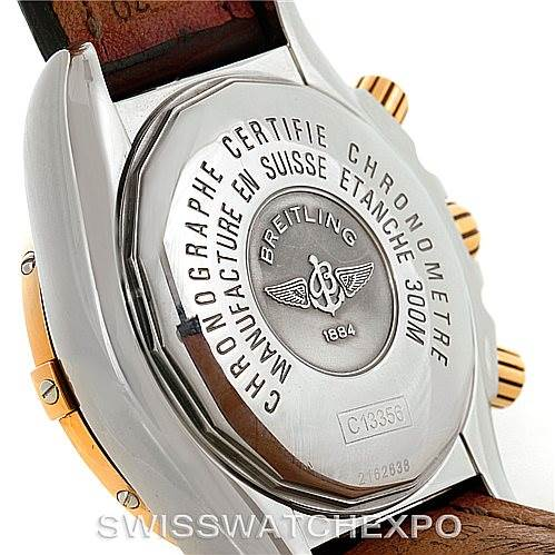 Breitling Chronomat Evolution Steel and Rose Gold Watch C13356 SwissWatchExpo