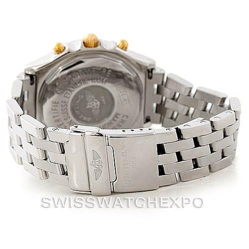 7350 Breitling Chronomat Steel 18K Yellow Gold Watch B13352 SwissWatchExpo