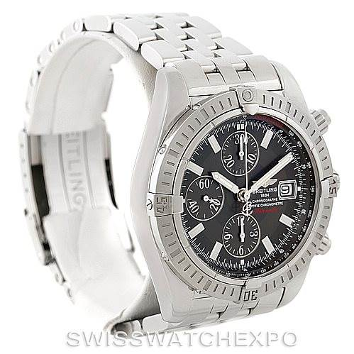 7764 Breitling Chronomat Evolution Steel Mens Watch A13356 Unworn SwissWatchExpo