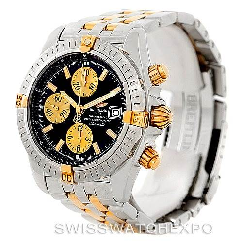 7762 Breitling Chronomat Steel 18K Gold Watch B13356 Unworn SwissWatchExpo