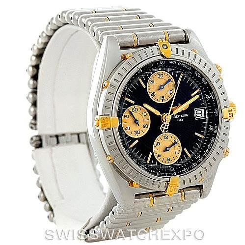 8127 Breitling Chronomat Steel 18K Yellow Gold Watch B13050 SwissWatchExpo