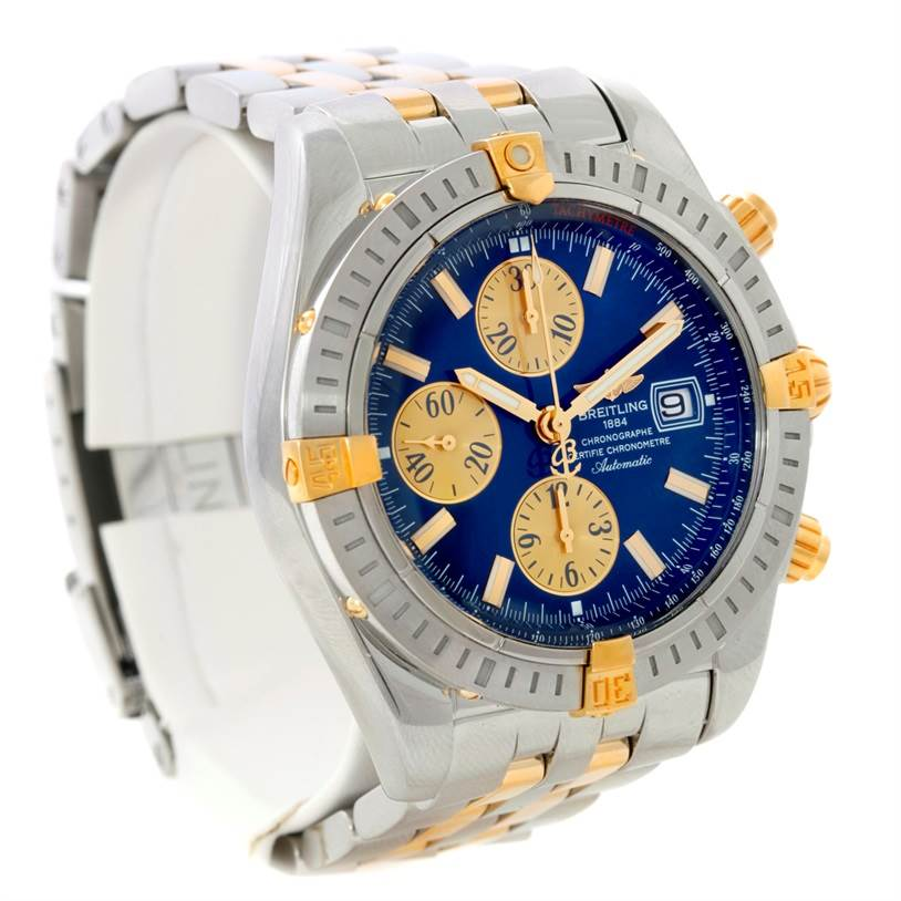 8666 Breitling Chronomat Steel 18K Yellow Gold Watch B13356 SwissWatchExpo