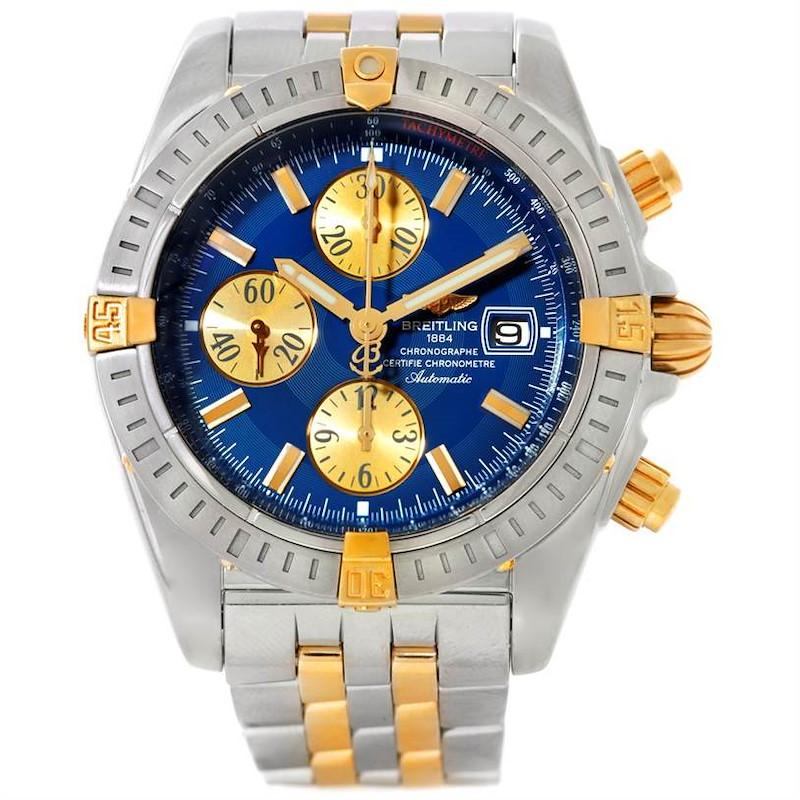 Breitling Chronomat Steel 18K Yellow Gold Watch B13356 SwissWatchExpo