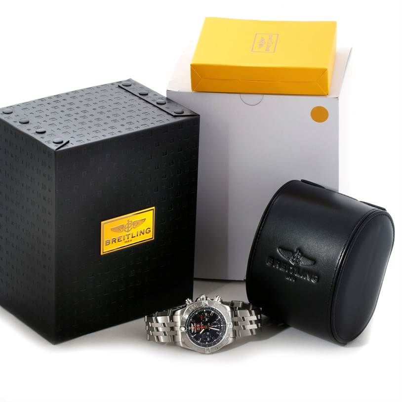 8668 Breitling Chronomat Blackbird Mens Watch A44360 Limited Edition  SwissWatchExpo