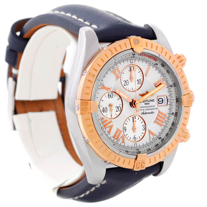 8719 Breitling Chronomat Evolution Steel and Rose Gold Watch C13356 SwissWatchExpo