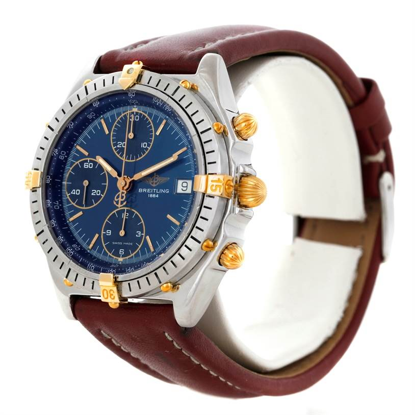 8934 Breitling Chronomat Steel 18K Yellow Gold Watch B13048 SwissWatchExpo