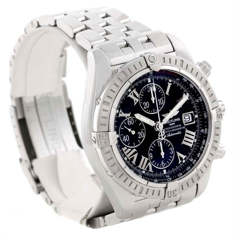 Breitling Chronomat Evolution Chronograph Steel Mens Watch A13356 SwissWatchExpo