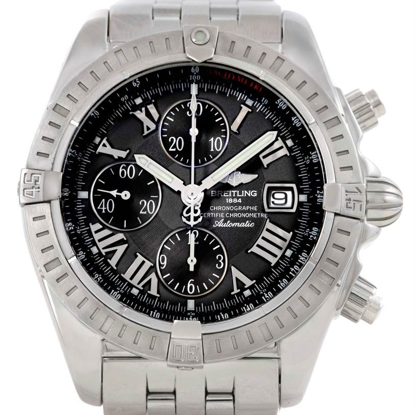 9564 Breitling Chronomat Evolution Chronograph Steel Mens Watch A13356 SwissWatchExpo