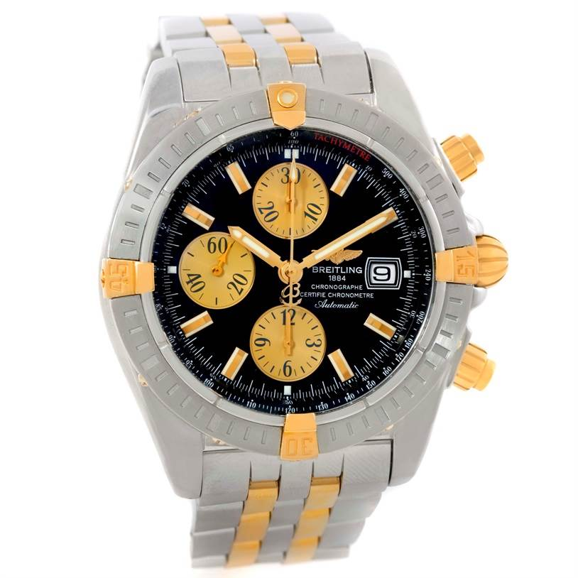 9699 Breitling Chronomat Steel 18K Yellow Gold Watch B13356 Unworn SwissWatchExpo