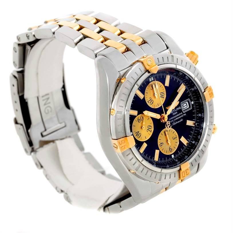 Breitling Chronomat Steel 18K Yellow Gold Watch B13356 Unworn SwissWatchExpo
