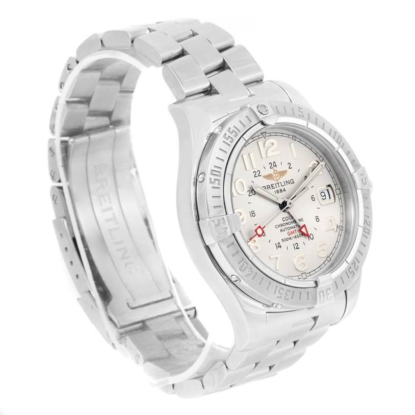 12294 Breitling Colt GMT Automatic Stainless Steel Watch A32350 Box Papers SwissWatchExpo