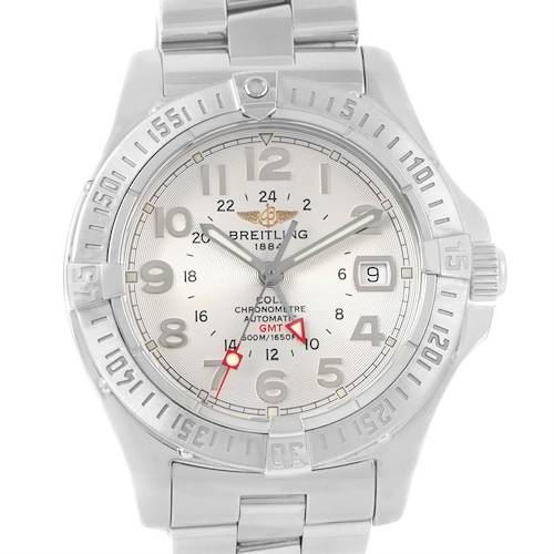 Photo of Breitling Colt GMT Automatic Stainless Steel Watch A32350 Box Papers