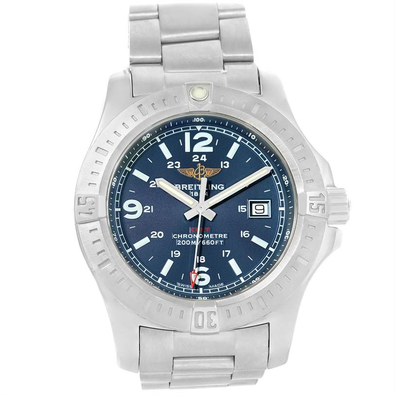 12305 Breitling Colt Quartz Stainless Steel Mens Watch A74388 Box Papers SwissWatchExpo