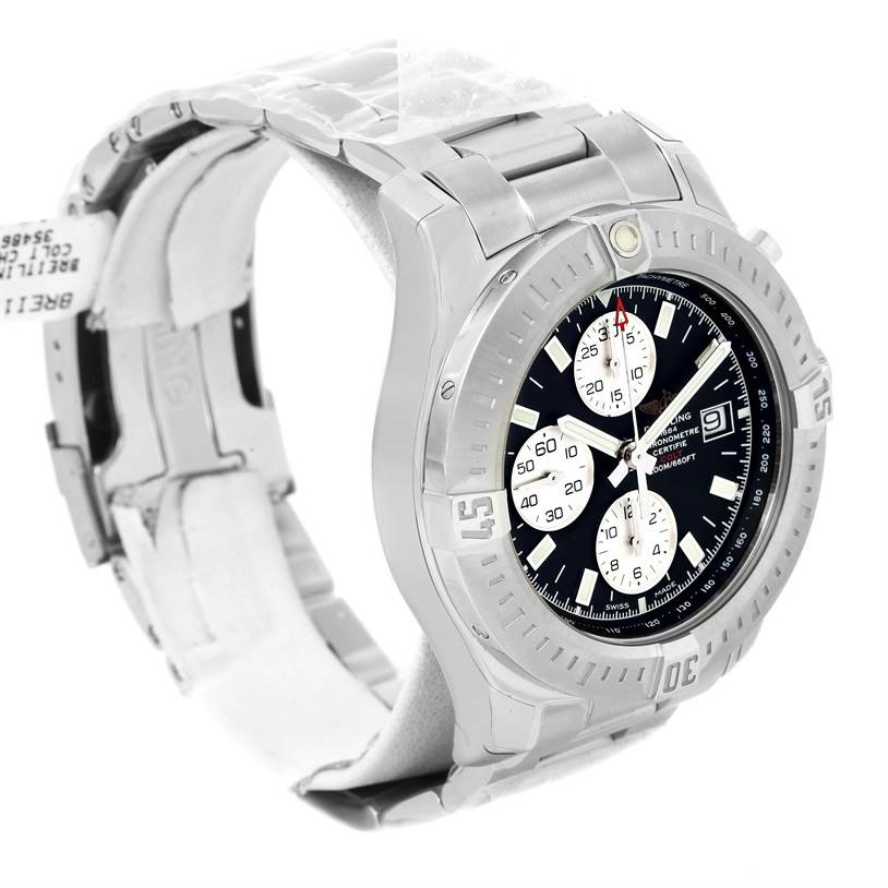 13224 Breitling Colt Automatic Chronograph Black Dial Watch A13388 Unworn SwissWatchExpo