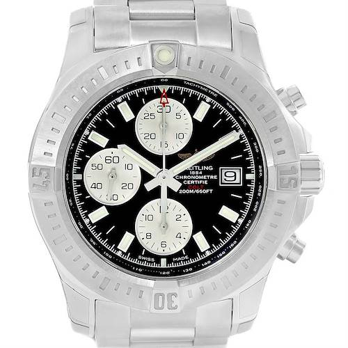 Photo of Breitling Colt Automatic Chronograph Black Dial Watch A13388 Unworn