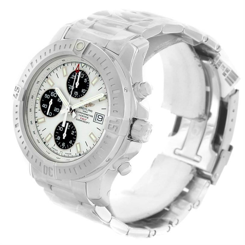 Breitling Colt Automatic Chronograph White Dial Watch A13388 Unworn SwissWatchExpo