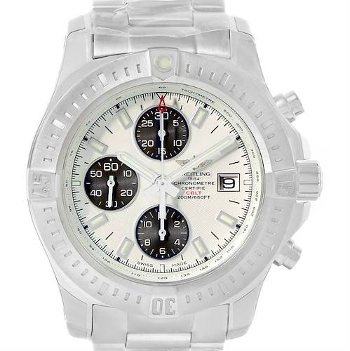 Photo of Breitling Colt Automatic Chronograph White Dial Watch A13388 Unworn