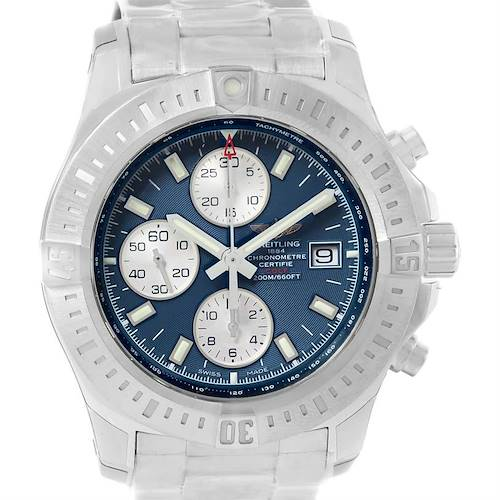 Photo of Breitling Colt Automatic Chronograph Blue Dial Watch A13388 Unworn