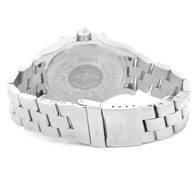 Breitling Colt Automatic Stainless Steel Black Dial Mens Watch A17380 SwissWatchExpo