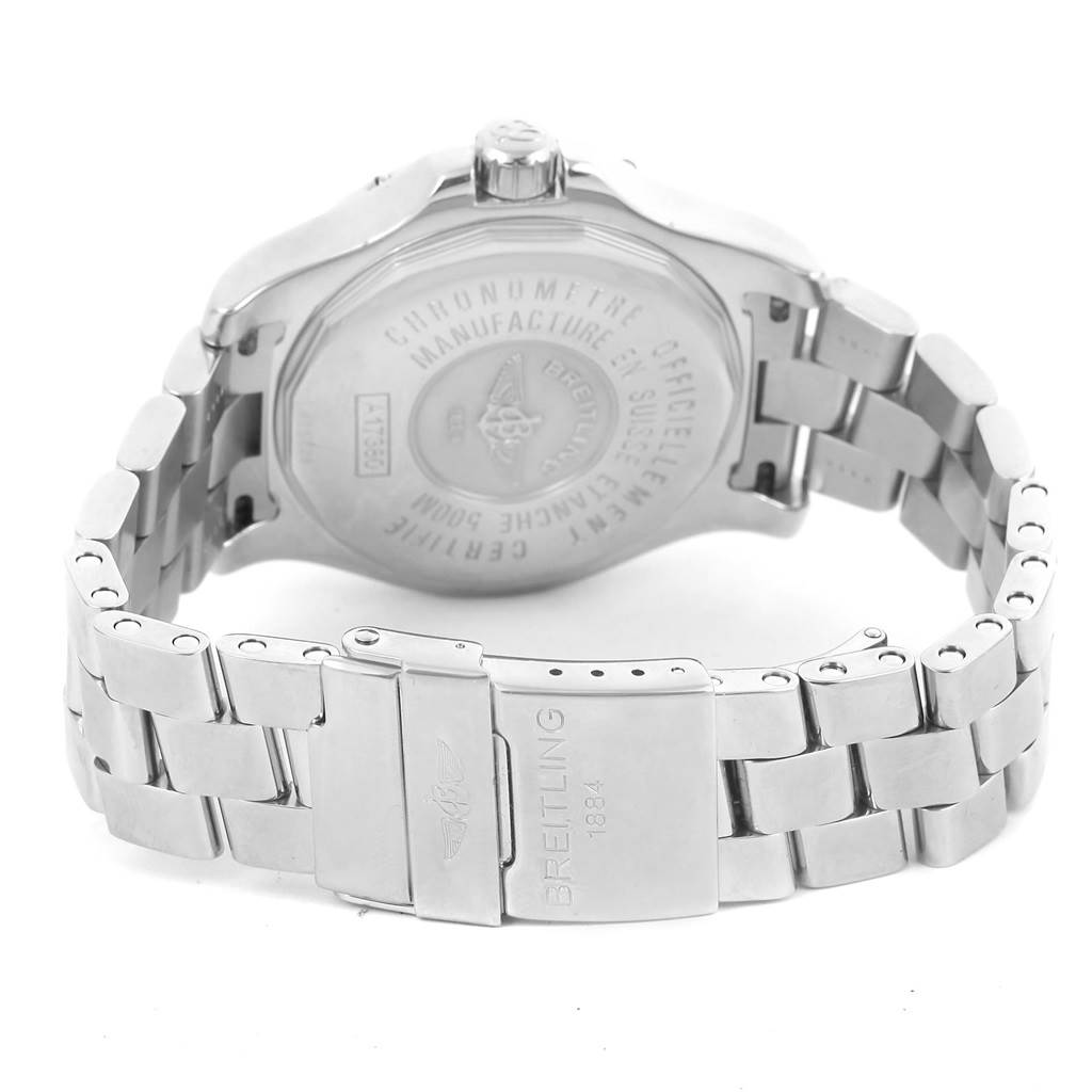 Breitling Colt Silver Dial Stainless Steel Automatic Mens Watch A17380 SwissWatchExpo